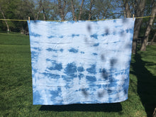 """Boston"" Indigo Shibori Linen Throw"