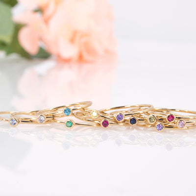 gold birthstone rings