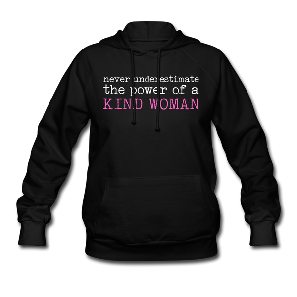 Women's Never Underestimate Hoodie - black