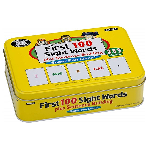 First 100 Sight Words Plus Sentence Building Fun Deck Flash Cards