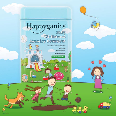 Happyganics Baby Laundry Detergent Powder (Sensitive Skin Unscented) - 1.5kg 天然蘇打抗菌洗衣粉(無香敏感肌膚配方)