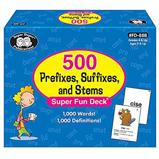 【Display 陳列品】500 Prefixes, Suffixes, and Stems Words & Definitions Flash Cards 多音節字詞結構訓練教材