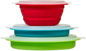 Prepworks by Progressive Collapsible Prep and Storage Bowls with Lids 三個裝連蓋伸縮矽膠碗套裝