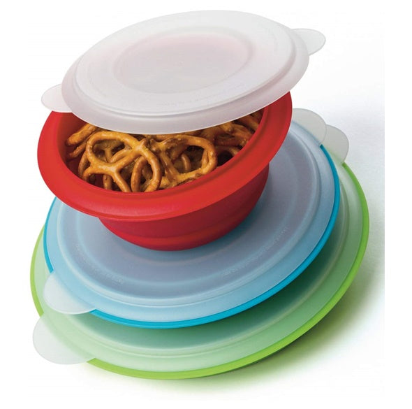 Collapsible Prep and Storage Bowls with Lids