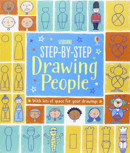 USBORNE Step-by-Step Drawing People (Activity Book) 逐步教你畫人物/ 表情 (包含練習)