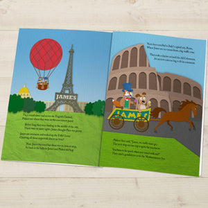 Around the World Personalized Book