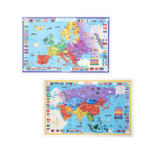 Load image into Gallery viewer, Asia & Europe Place Mat Set