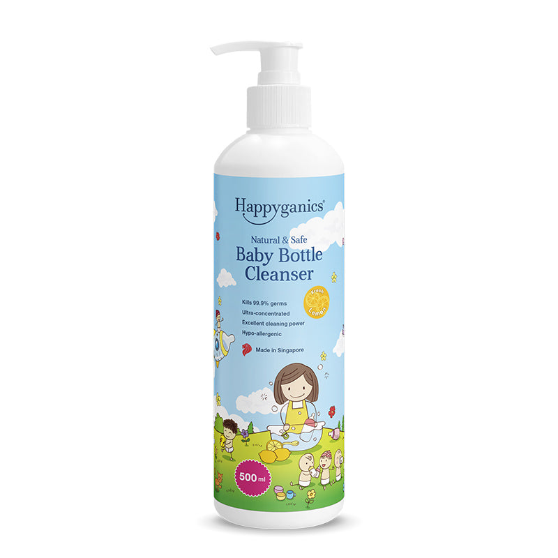 Happyganics Baby Bottle Cleanser (Fresh Lemon) - 500ml 天然奶瓶清潔液 - 檸檬清香