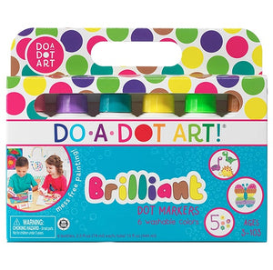 Do-A-Dot Brilliant Washable Marker Set of 6 colors 海綿頭顏色/ 海綿頭點點筆「粉彩六色」