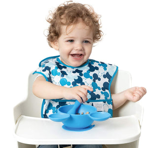 Bumkins Disney Mickey Mouse StarterBib, Baby Bib, Waterproof, Washable, Stain and Odor Resistant, 6-24 Months (Pack of 2) - Classic/Icon