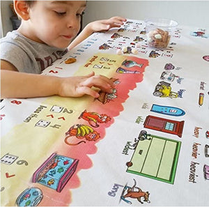Children's Tablecloth, Mostly Math, Pre-k and kindergarten level