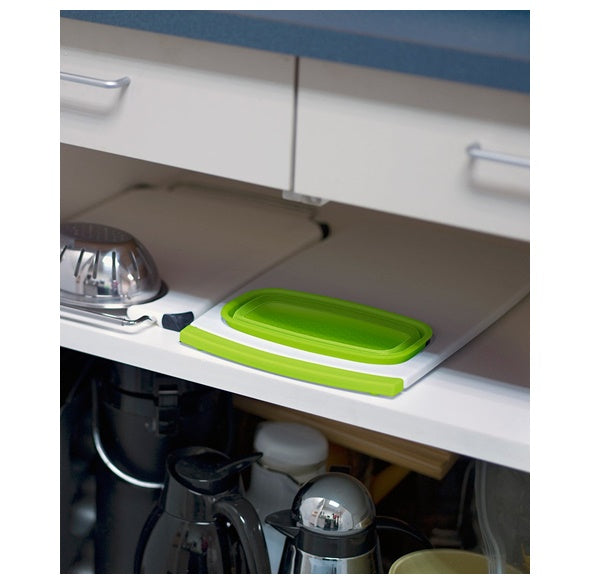 Collapsible Over-the-Sink Colander Cutting Board 砧板連可摺矽膠盤