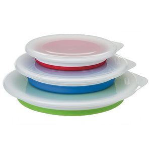 Collapsible Storage Bowls with Lids - Set of 3 三個裝連蓋伸縮矽膠碗套裝