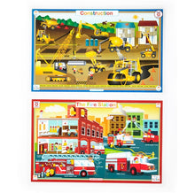 Load image into Gallery viewer, Construction & Fire Station Activity Place Mat Set