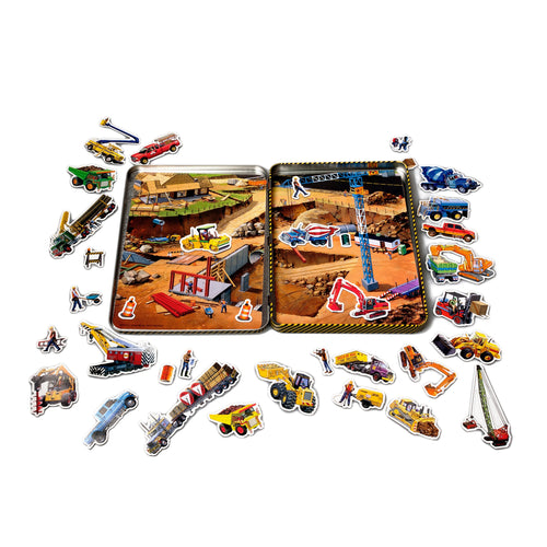 Construction Magnetic Tin Play Set
