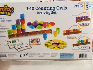 【Pre-order】1–10 Counting Owls Activity Set 貓頭鷹積木初階數學遊戲