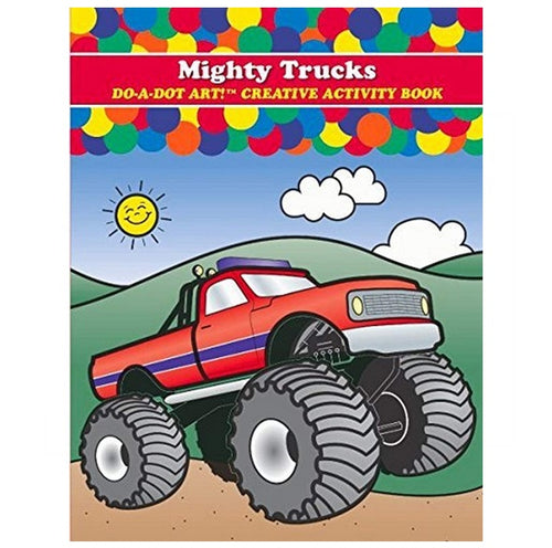 Do A Dot Art Activity Book - Mighty Trucks 海綿頭顏色筆專用畫冊