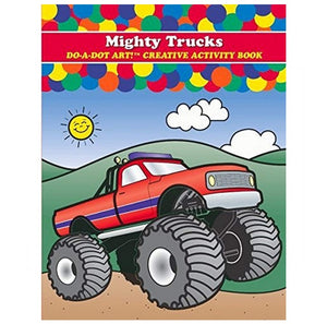 Creative Art & Activity Book - Mighty Trucks 海綿頭顏色筆專用畫冊