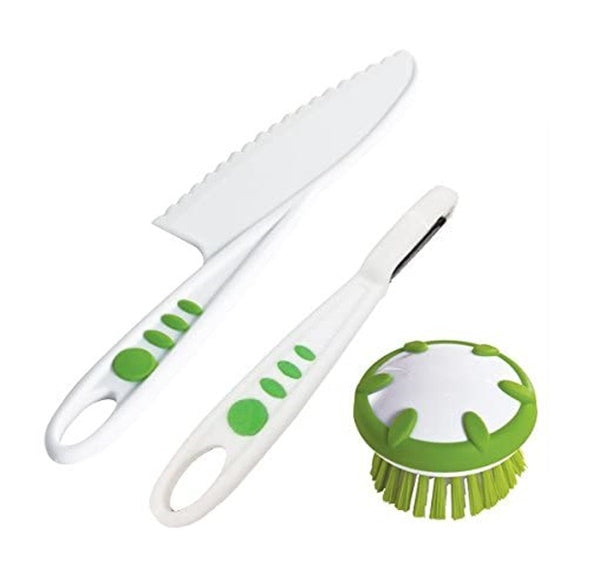 Curious Chef Children's 3-Piece Vegetable Prep Tool Set 兒童用蔬果刀刨套裝