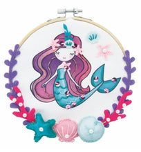 Load image into Gallery viewer, DIY Embroidery Hoop Art - Mermaid 美人魚繡花環