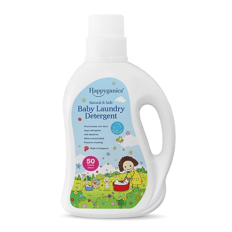 Happyganics Baby Laundry Detergent (Fresh Hydrangea) - 1000ml 天然抗菌洗衣液 繡球花味
