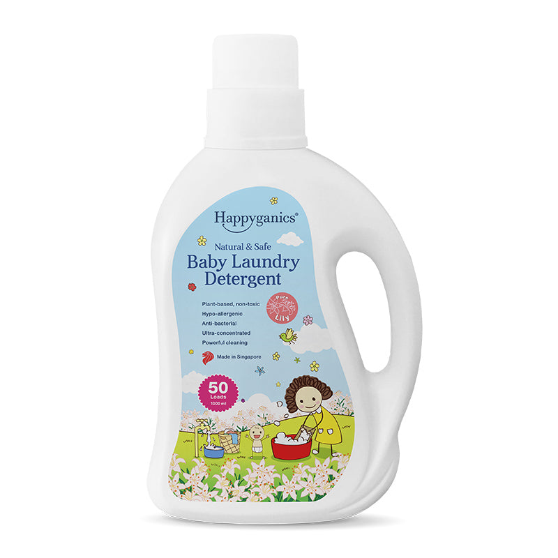 Happyganics Baby Laundry Detergent (Pure Lily) - 1000ml 天然抗菌洗衣液 百合花味