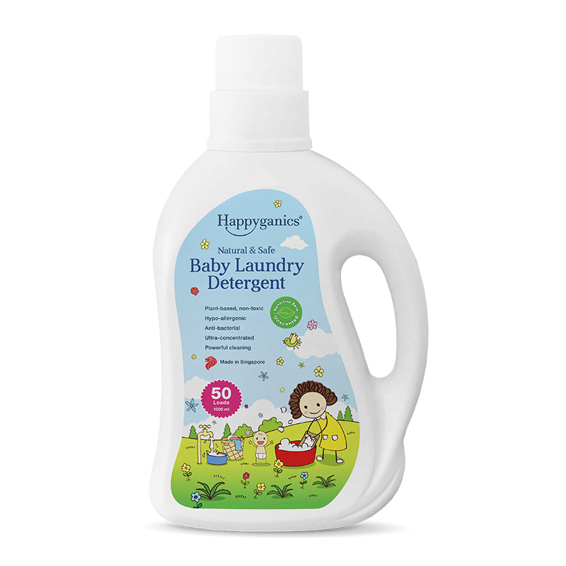 Happyganics Baby Laundry Detergent (Sensitive Skin Unscented) - 1000ml 天然抗菌洗衣液 純天然無味