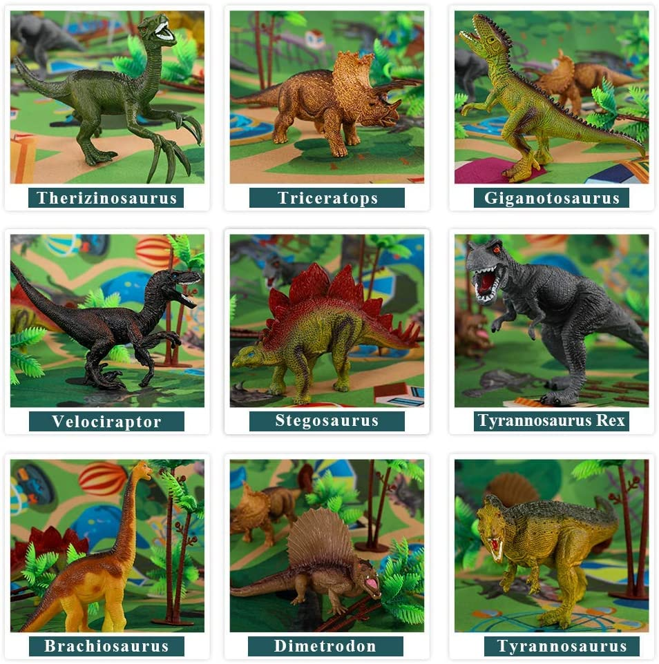 Dinosaur Toy Figure w/ Activity Play Mat & Trees (Pre-Order : Expiry on 6 Sept at 8pm)