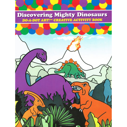 Do A Dot Art Activity Book - Migthy Dinosaurs 海綿頭顏色筆專用畫冊