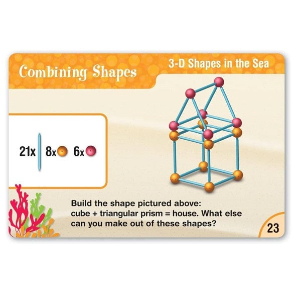 Learning Resources Dive into Shapes Geometric Shapes Building Set 2D & 3D 幾何積木拼砌套裝