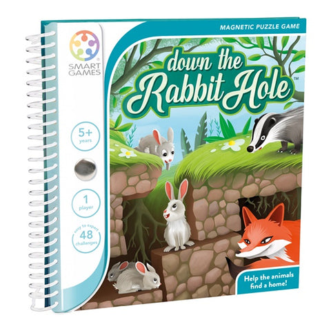 Smart Games Down the Rabbit Hole Magnetic Puzzle Travel Game 小兔躲起來-磁貼遊戲冊, age 5+
