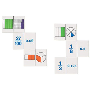Fraction and Decimal Dominoes Game