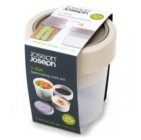 Joseph Joseph GoEat Space-Saving Snack Pot - Grey 可伸縮防漏食物盒