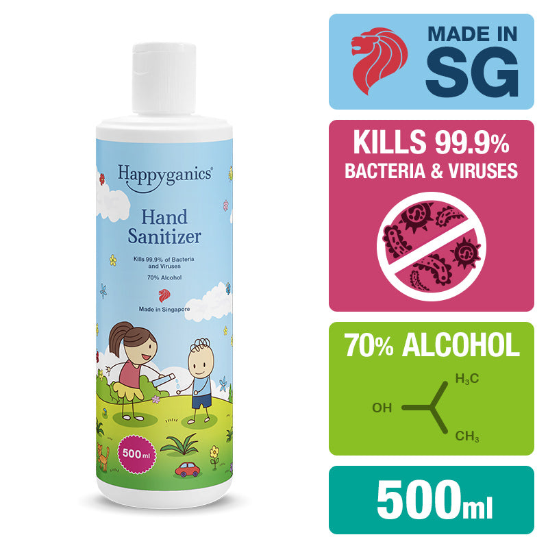 Happyganics Hand Sanitizer (70% alcohol) - 500ml 消毒噴霧 (補充裝)