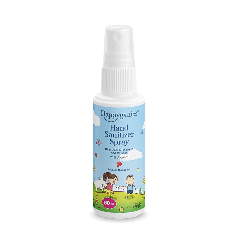 Happyganics Hand Sanitizer Spray (70% alcohol) 50/ 500ml - 消毒噴霧 便攜/ 經濟補充裝