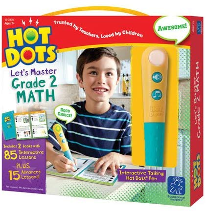 Hot Dots Jr. Let's Master 2nd Grade Math