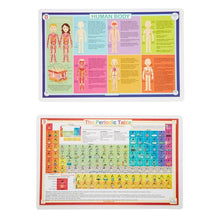 Load image into Gallery viewer, Human Body & Periodic Table Activity Place Mat Set