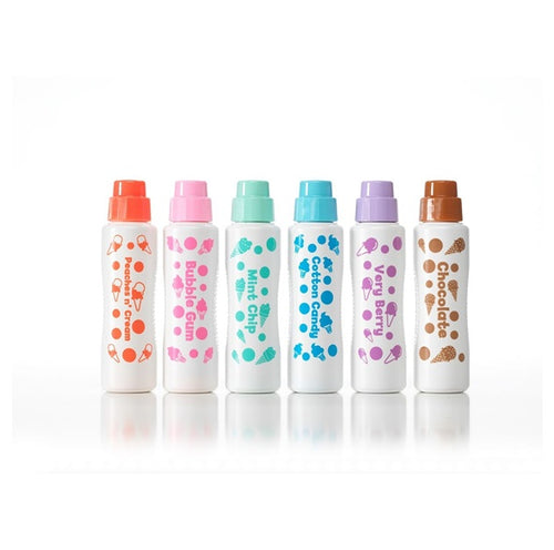 Do-A-Dot Ice Cream Scented Washable Marker Set of 6 colors 海綿頭顏色/ 海綿頭點點筆 「雪糕香味」