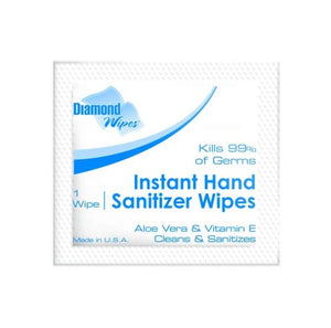 Instant Hand Sanitizer 64% Ethyl Alcohol Wipes - 100pcs