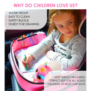 Travel Tray for Girls Toddler Car Seat Travel Play Activity