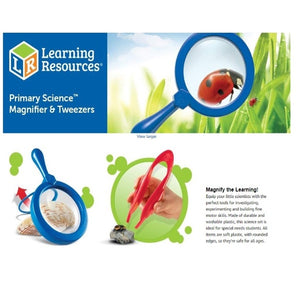 Magnifier & Tweezers, Fine Motor Toy, Easy Grip, Ages 3+ 幼童專用放大鏡 + 軟膠鉗