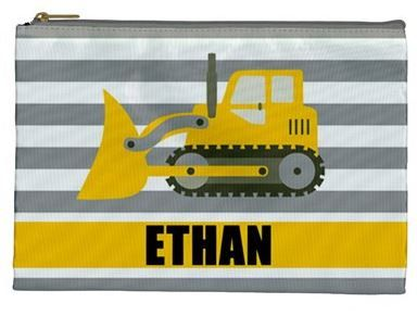 【Pre-order 預訂, 25/2截單】Personalized Cosmetic / Pencil bag, Printed in USA 自定名字拉鏈袋 - 🚂MOVING 系列