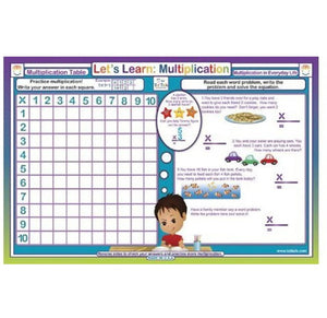 Fractions, Multiplication & Divison Place Mat Set