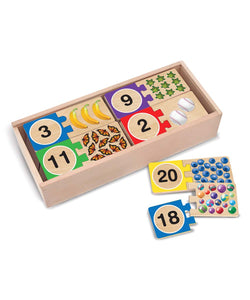 Self-Correcting Number Wood Puzzle Set