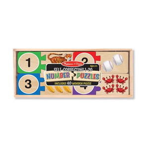 Number Wood Puzzle Set