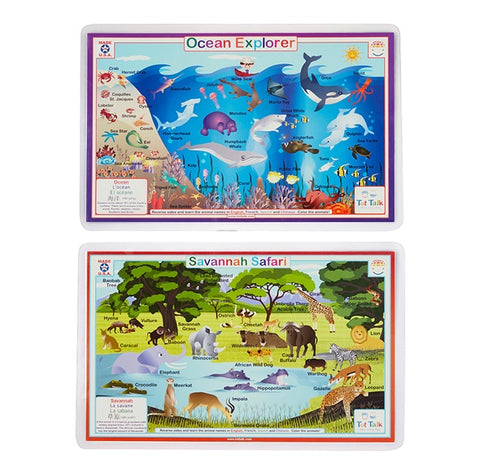 Ocean Explorer & Savanna Safari Activity Place Mat