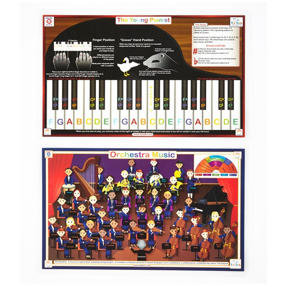Orchestra & Young Pianist Activity Place Mat Set