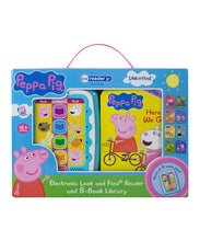 Load image into Gallery viewer, Peppa Pig Electronic Me Reader Jr & Sound Book Library Set / Peppa Pig 幼兒版電子閱讀機連8本書