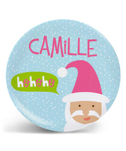 Load image into Gallery viewer, X'mas Style 10'' Personalized Plate, BPA-free 自定名字碟 (Pre-order)