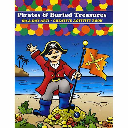 Do A Dot Art Activity Book - Pirates & Buried Treasures 海綿頭顏色筆專用畫冊